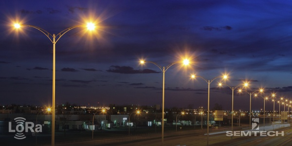 Lora Enabled Street Lights Represent A
